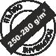 Пълно покриване 250-280 грама за един квадратен метър