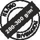 За пълно покриване 280-300 грама на квадратен метър