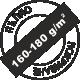 160-180г на квадратен метър за пълно покриване