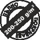Пълно покриване 200-250 грама за един квадратен метър