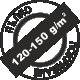Пълно покриване 120-150 грама на квадратен метър