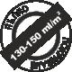 Пълно покриване 130-150 милилитра на квадратен метър