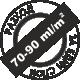 Пълно покриване 70-90 милилитра на квадратен метър