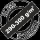 Пълно покриване 290-300 грама на квадратен метър
