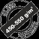 Пълно покриване 450-550 грама на квадратен метър