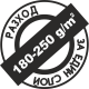 Пълно покриване 180-250 милилитра на квадратен метър